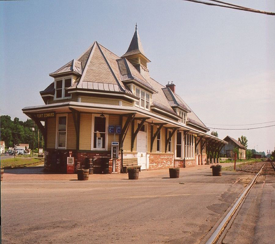 An old image of The Fort Edward Train station