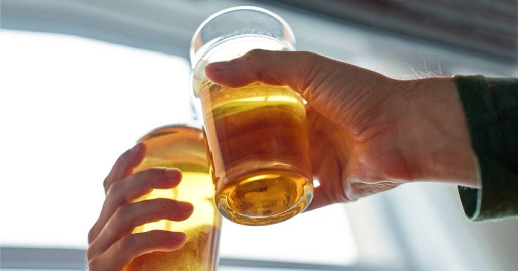 two beer glasses cheers