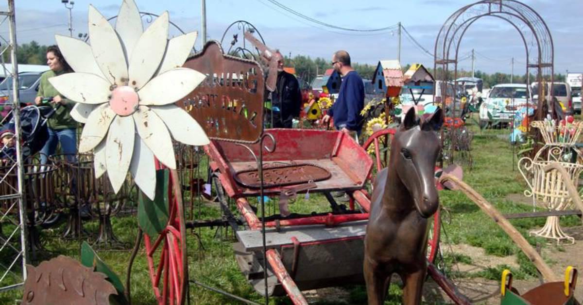 an outdoor antique fair