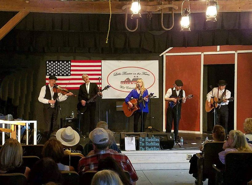 The Bluebillies on stage